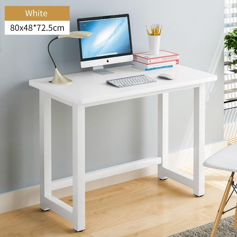 스티브데스크 하마책상 완벽하게 튼튼한 일자형 1인용 기본책상 사무실책상 컴퓨터책상, 80폭 화이트