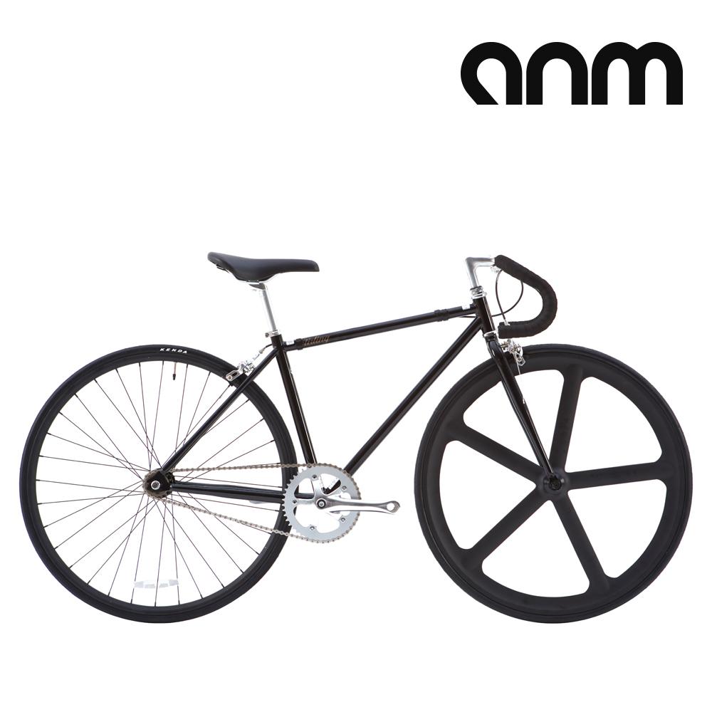 [ANM] 스털링 크로몰리 클래식 픽시 자전거, 460mm, 블랙