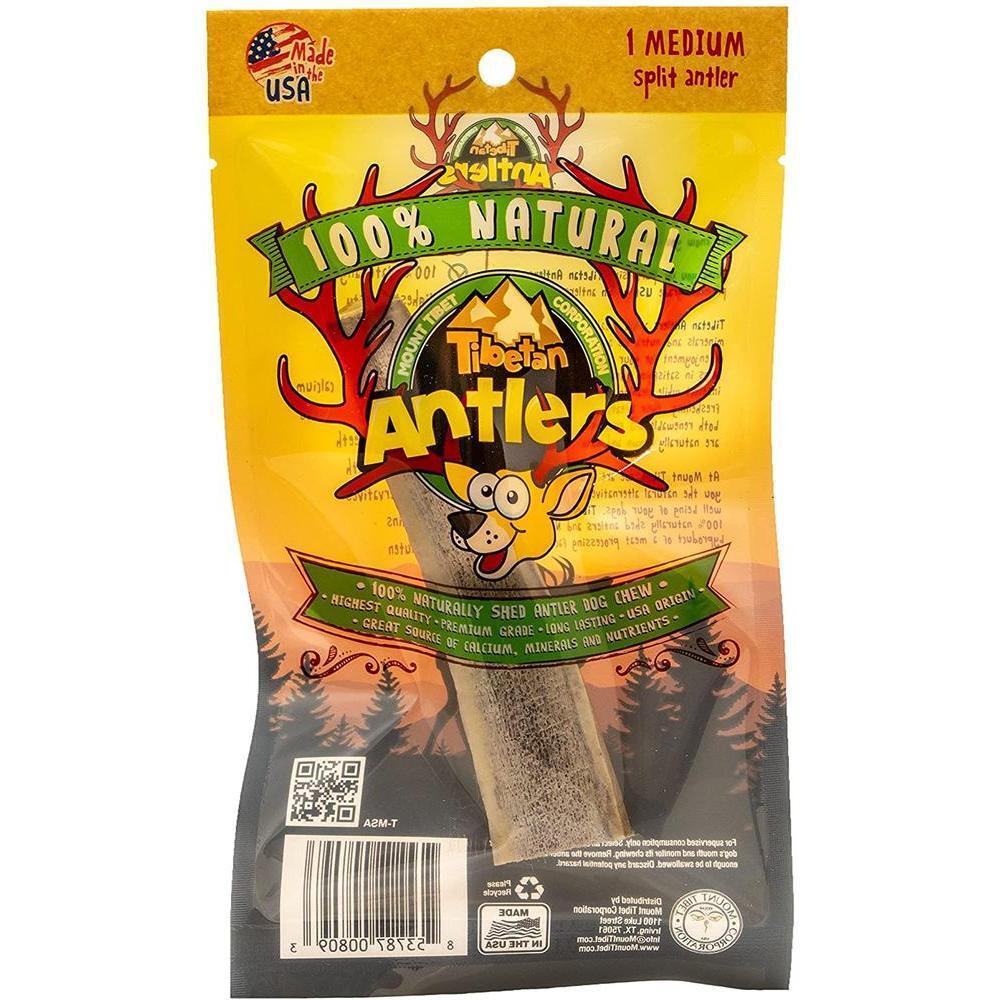 [강아지 장난감] Tibetan - Premium Elk Antlers for Dogs Naturally Shed Elk Antlers USA Elk Antlers(Split, 1set