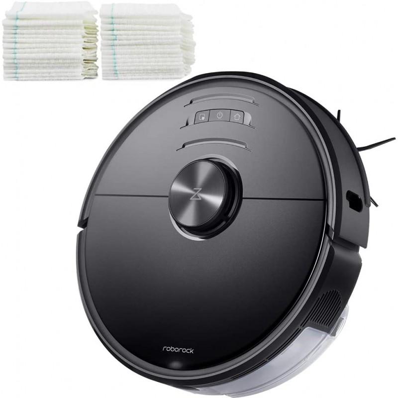[110볼트] - Roborock S6 MaxV 로봇 진공 청소기 및 일회용 Mop Cloth 30pcs -, 단일옵션