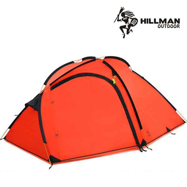 [힐맨] 터틀4 텐트 4인용 투룸 텐트 그라운드시트 포함, 색상:옐로우