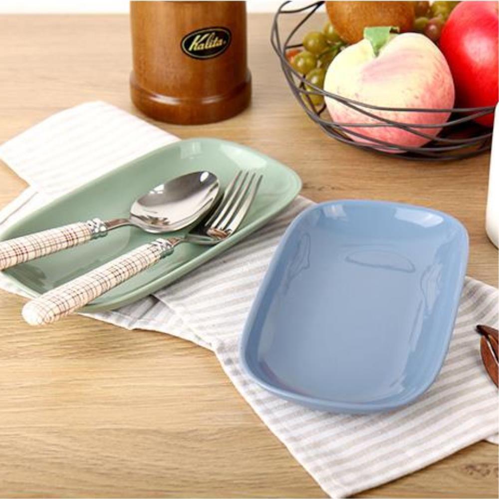 실리콘간식접시 직사각 안깨지는그릇 식빵접시 신혼접시 반찬접시, 단일사이즈