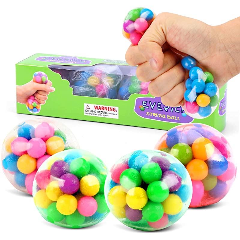 Big PVC Beads Stress Ball을 이용한 성인 스트레스 완화용 4 스퀴즈 감각 비드 볼 ADHD 키즈 팩용 스퀴시 스트레스 볼, 상세페이지 참조