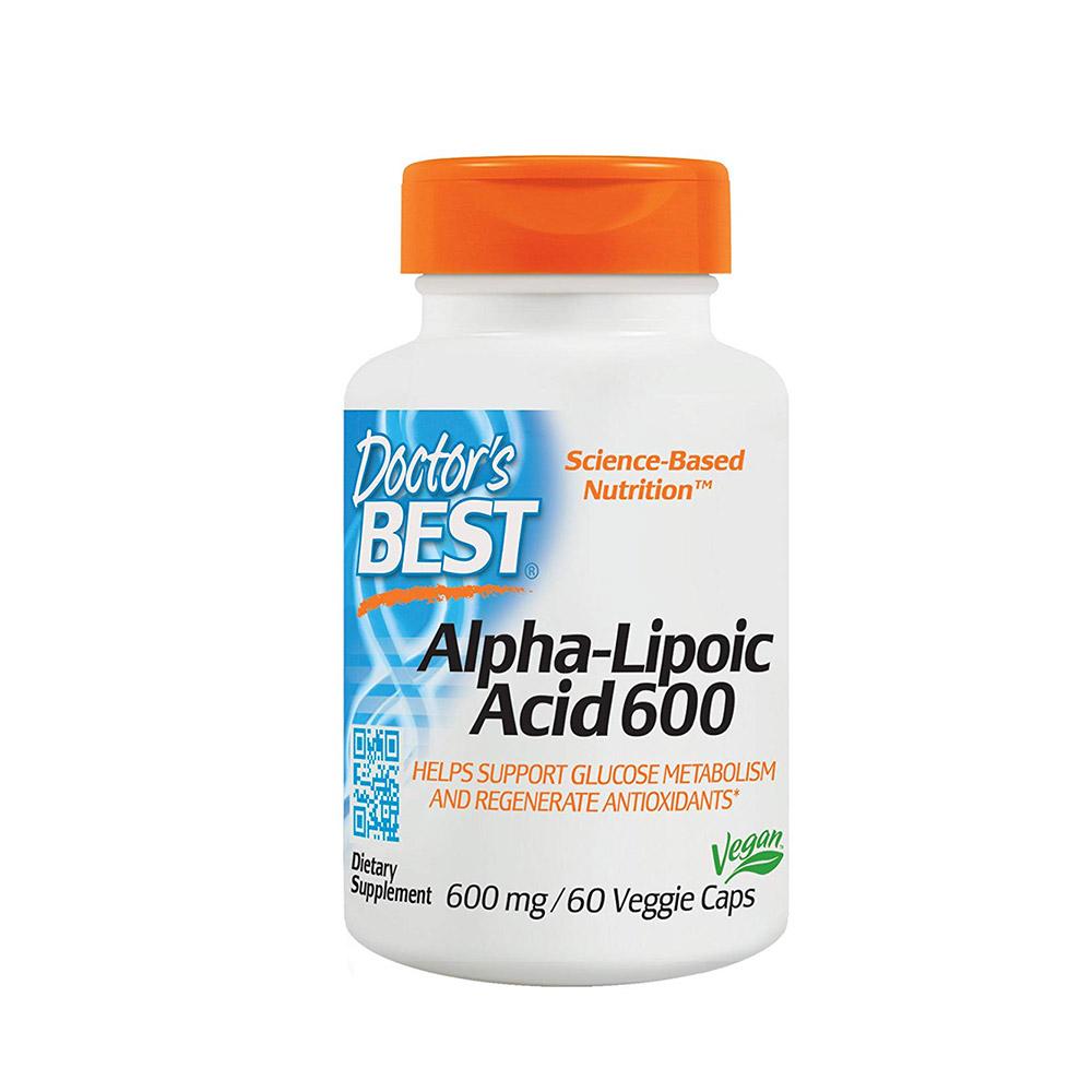 Doctors Best 알파리포산 600mg 60캡슐, 단품