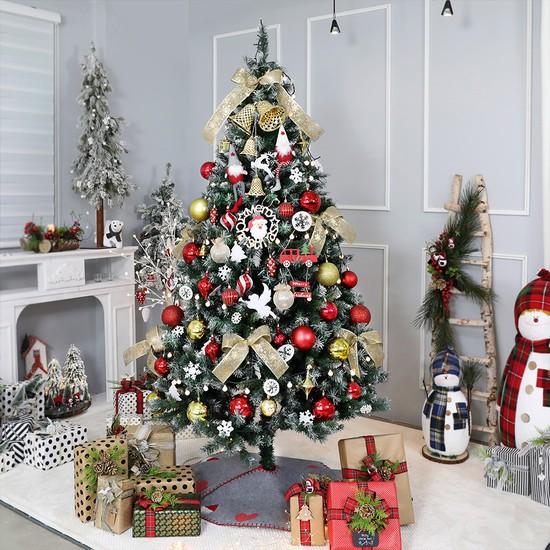 크리스마스트리 대형 고급트리 글로리아골드 2.1M 전구장식 풀세트