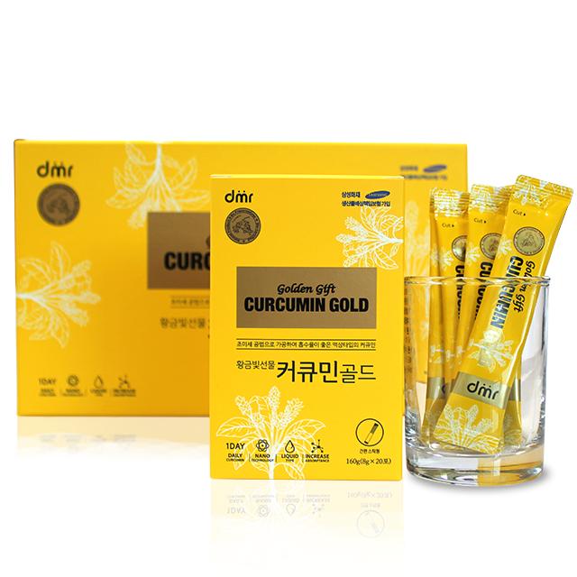 미셀화 수용성 커큐민 골드 황금빛 선물 스틱형, 60개입