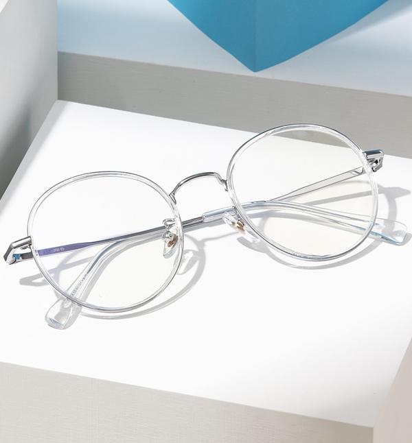 리끌로우(RECLOW) 베타티타늄 RECLOW RCP B01 CRYSTAL SILVER 안경