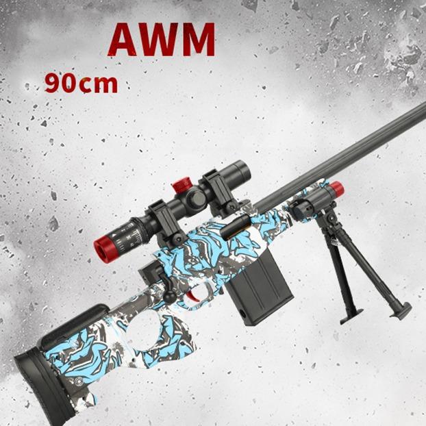 배그 배틀그라운드 AWM K98 에땁 카고팔 젤리탄 수정탄총 스나이퍼 저격총 스펀지탄 호환 가능, 3set