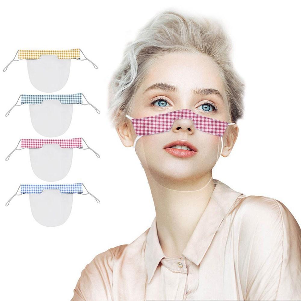립뷰 반 투명 마스크 위생 비말차단 립리딩 레드체크