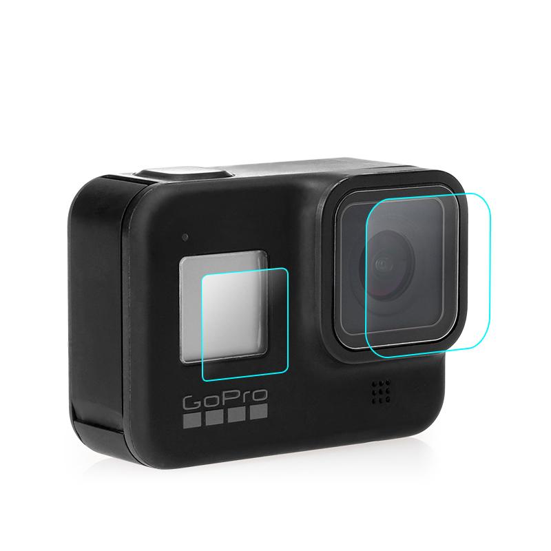 Zoom-AI 고프로8 전용 강화 보호 필름 커버 LCD 2매 렌즈 1매 총 3장