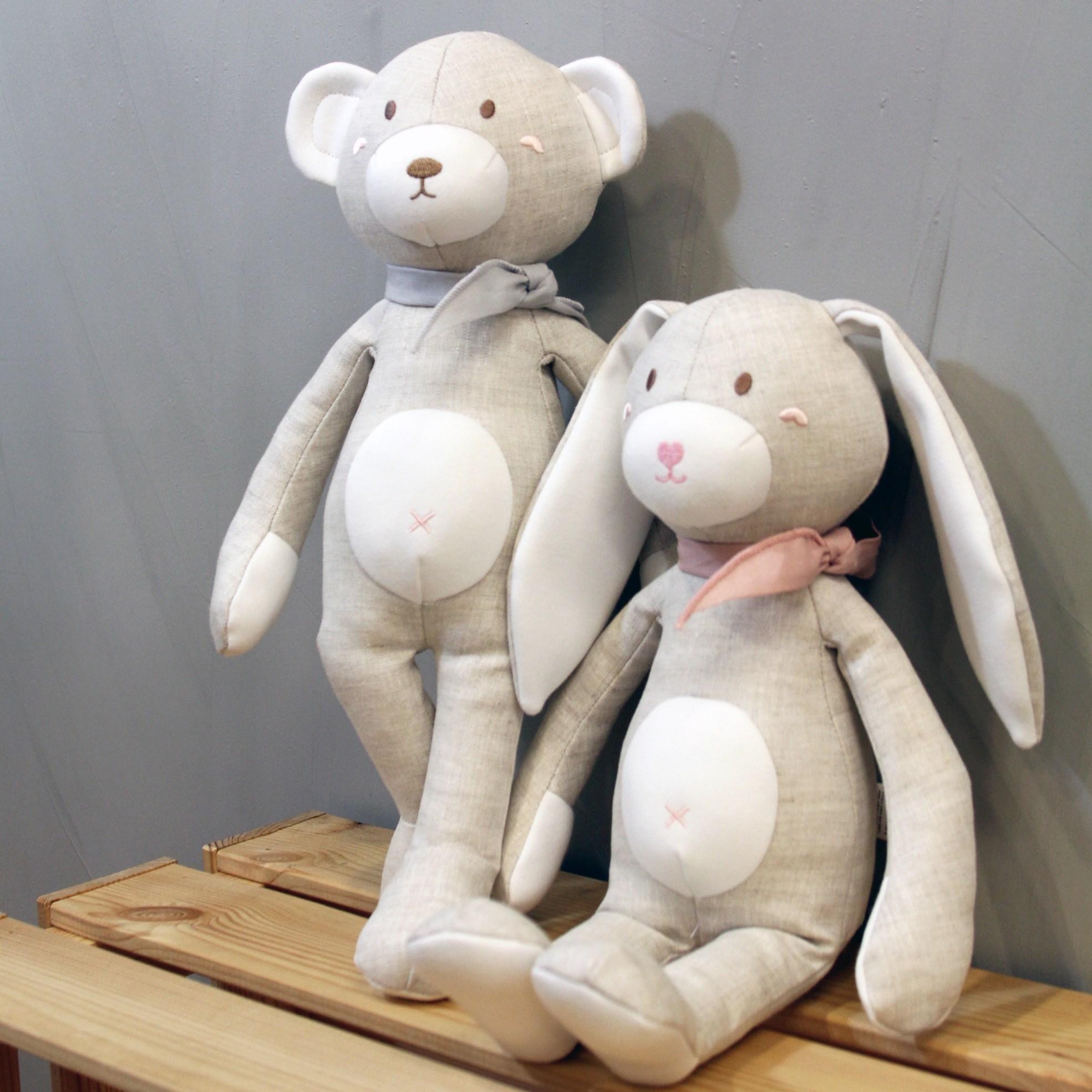 슈톨렌 린넨토이 애착인형 (곰돌이 토끼 35cm 2종 선택), 2. 토끼