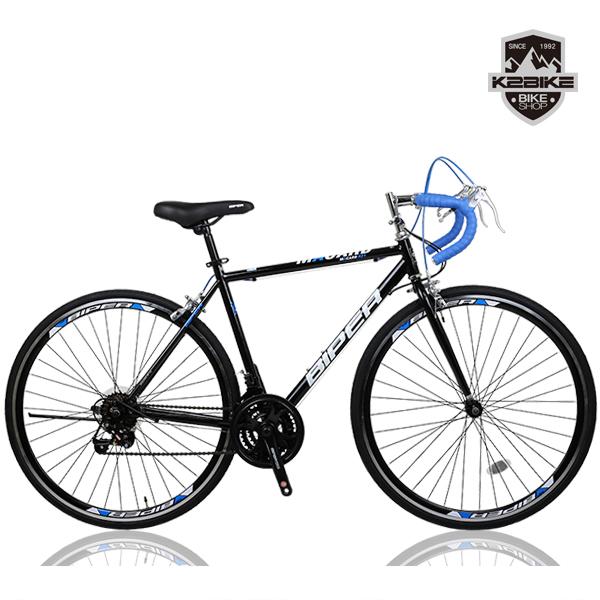 K2BIKE 2020 로드자전거 메커드R21 700C 21단 싸이클 로드 자전거, 메커드R21(430)블랙+블루 완조립+사은품B