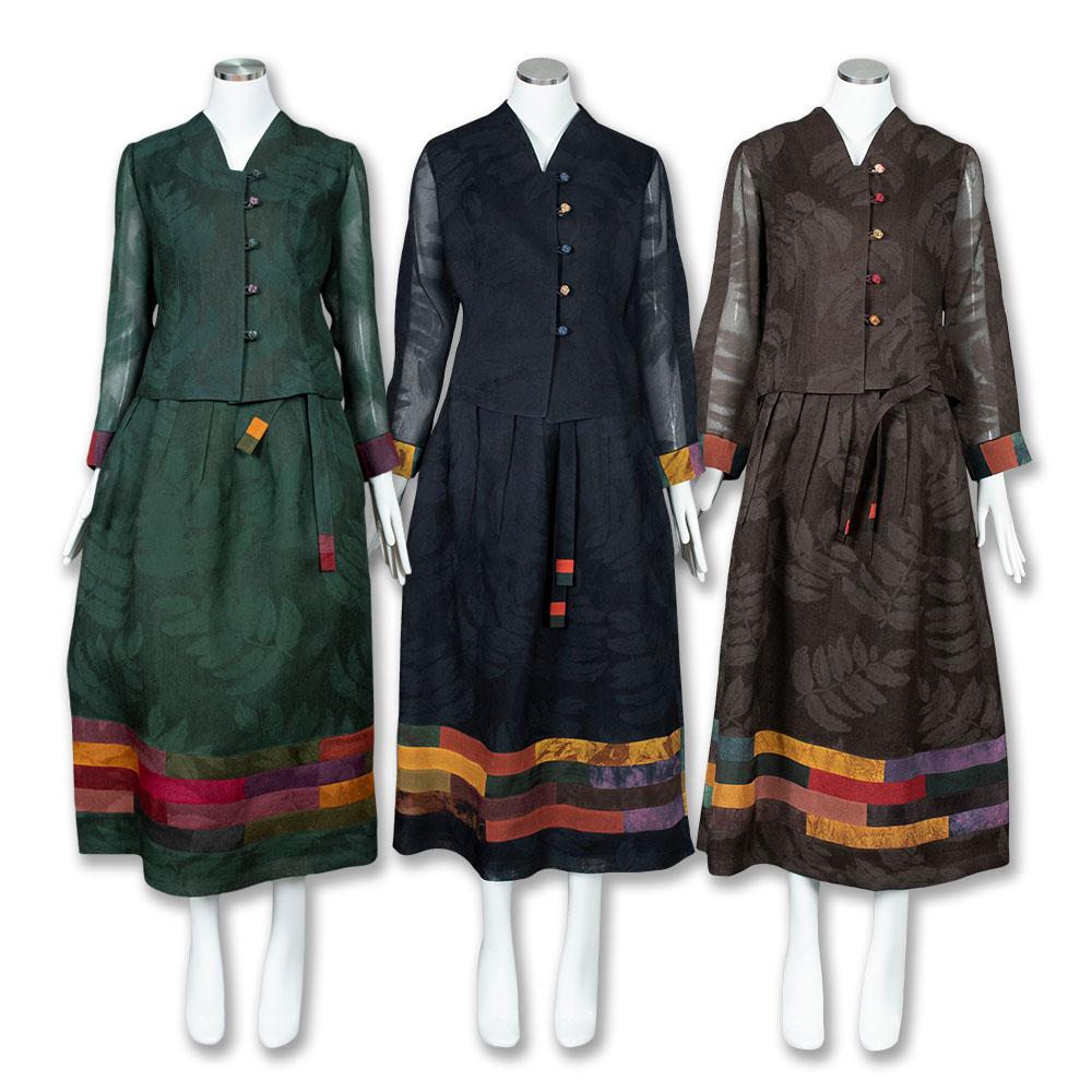 부국사임당 여성생활한복 천연염색 메시 인견 뱀부 2피스 투피스 생활한복 (POP 1342393687)