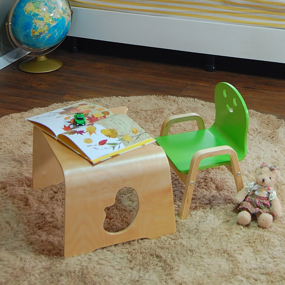 토리 원목 유아 해피니스 어린이의자 책상세트, 해피니스 책상 / 1단의자 연두