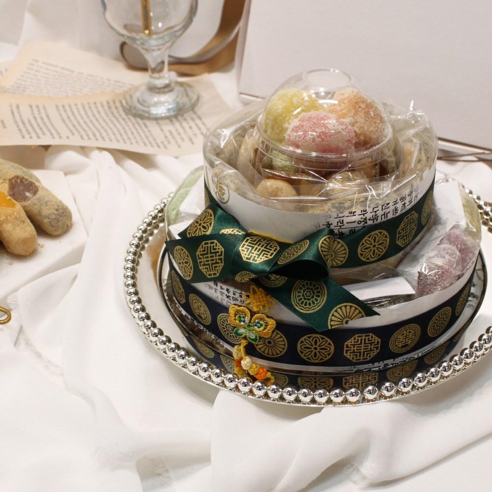 (주)예맛떡 [감사합니다 Best선물] 감사건강이2단 모듬떡케이크(전국배송), 1kg, 1개