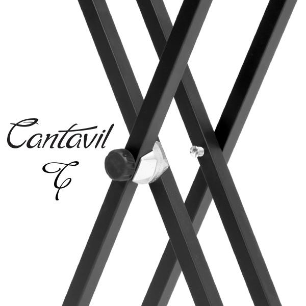 칸타빌 CKS-300 접이식 X자 톱니 쌍열 디지털피아노 스탠드 받침대 거치대