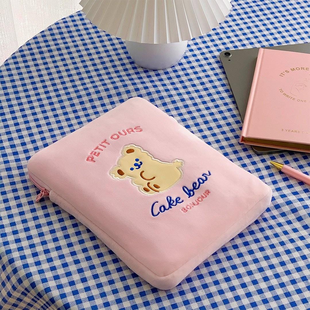 [리틀데이지] 귀여운 아이패드 11인치 10.5인치 10.2인치 파우치 갤럭시탭 s6 s7 케이스 태블릿 3세대 4세대 에어3 6세대 7세대, 02_핑크