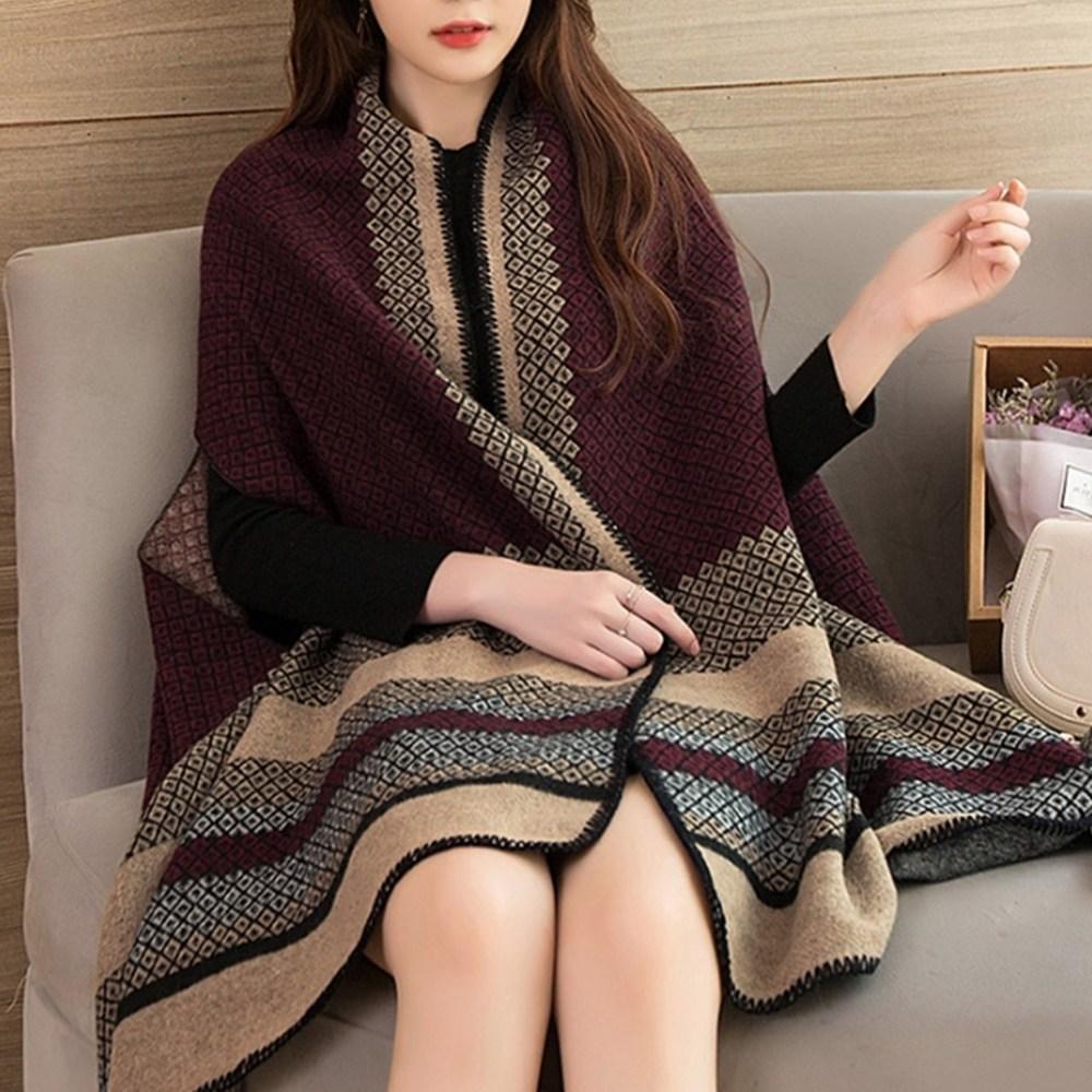 머플러 스카프 숄 캐시미어 목도리 담요 스타일리시 케이프 망토 여성 여자 겨울 패션