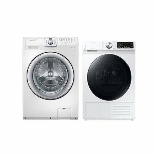 [신세계TV쇼핑][삼성] 드럼 세탁기 14Kg + 건조기 9Kg 세트 WF14F5K3AVW1+DV90T5540BW, 단일상품
