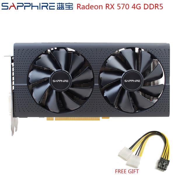 SAPPHIRE AMD Radeon RX 570 4GB 게임 그래픽 카드 RX570 256bit GDDR5 비디오 카드 PCI Express 3.0 데스, 한개옵션