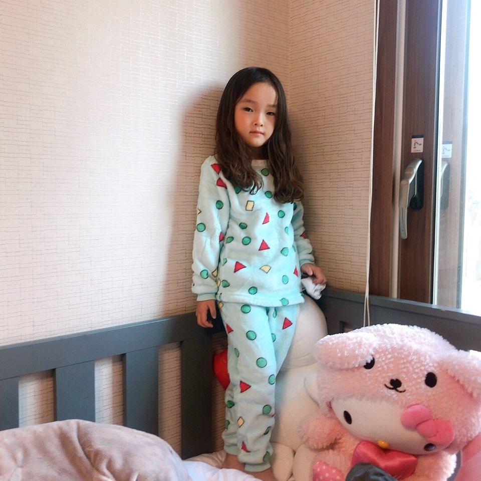 겨울 밍크 아동짱구잠옷세트 초극세사 수면잠옷 파자마 실내복