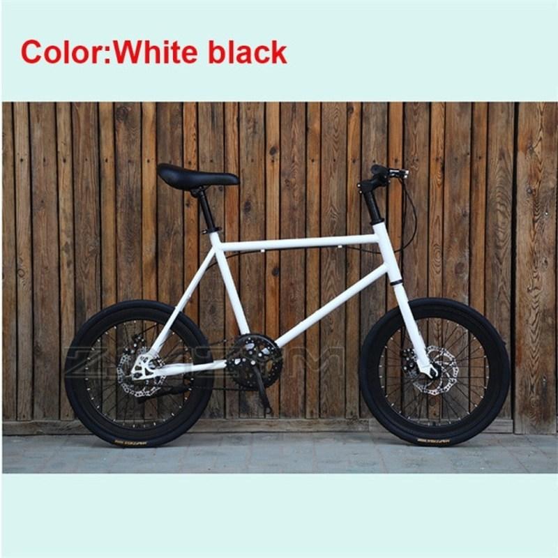 초경량 접이식 풀카본 소형 미니벨로 자전거 20 인치 단일 속도 Fixie 더블 Dsic 브레이크 프리휠 프레임 미니 높이 155cm 180cm, 4-솔리드 타이어