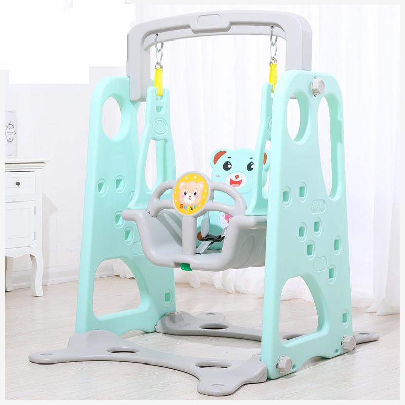 [유쉬터] 유아 실내 그네 안전그네 놀이터 놀이기구 장난감1-4살, 그린