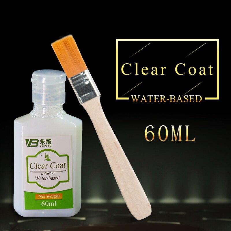 60ml 수성 클리어 코트 클리어 바니시 골드 리프 프로텍션 펄 파우더 및 글리터 파우더 희석 무료 배송|Acrylic Paints|, 1개, Clear Coat