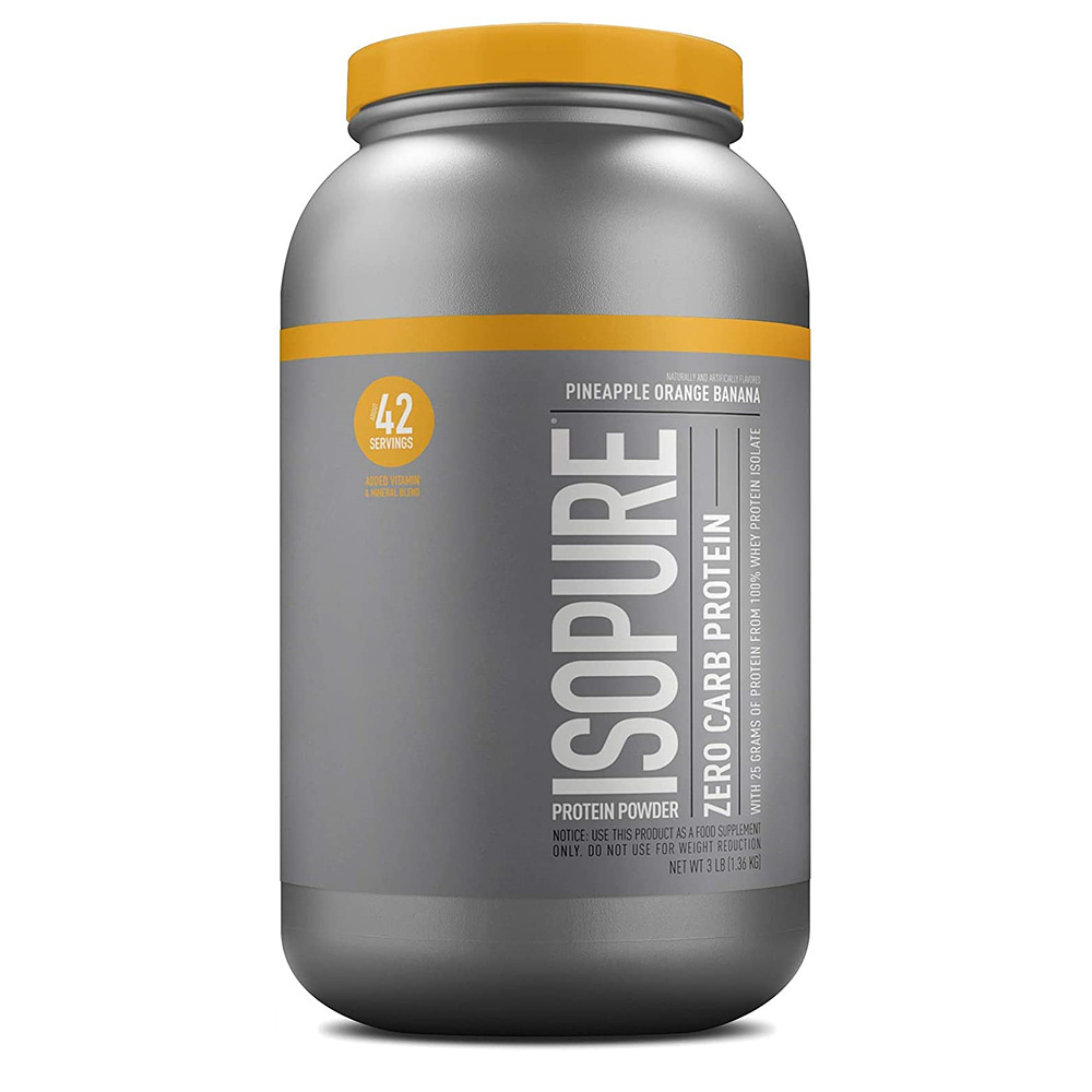 Isopure 이소퓨어 제로 카브 프로틴 파인애플 오렌지 바나나 Zero Carb Protein1.36kg, 1개, 1