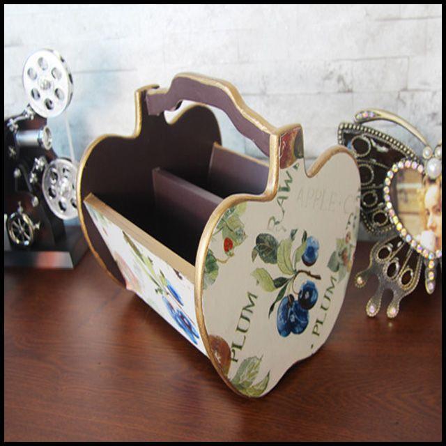 OT 원목 장식 보관함 물품보관 인테리어 소품 프룻츠
