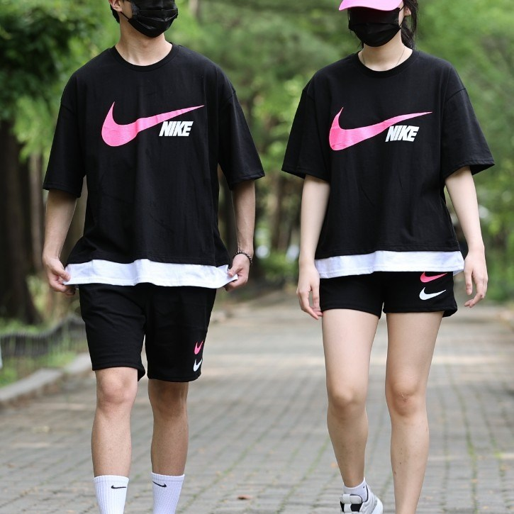 오브치치 핑크 나염 포인트 남여공용 트레이닝복 세트