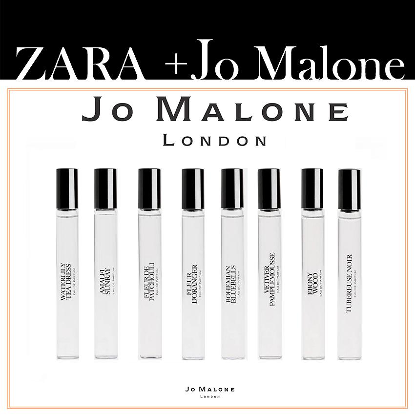 자라X조말론 콜라보 이모션 향수 10ml 8종 자말론 에보니우드 zara JoMalone Emotin parfume collaboration 10ml, Waterlilly Tea Dress