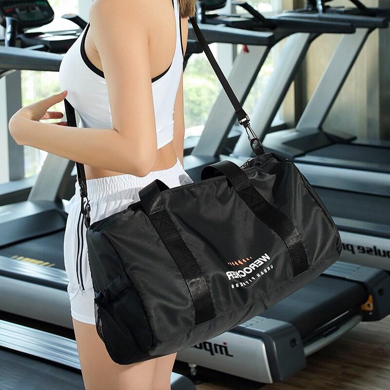 landcase 헬 스 팩 남 건습 분리 여성 트 레이 닝 백 한쪽 어깨 여행 가방 요가 수영 가방 가방