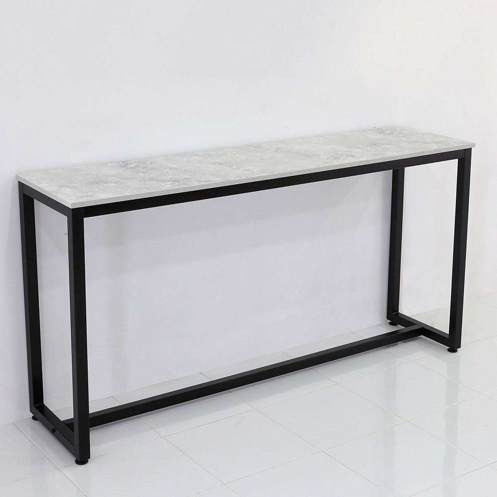 THEJOA [더조아] 홈바테이블 높은테이블 카페 인테리어 아일랜드식탁 홈바테이블 콘솔, 1800 까르니코화이트