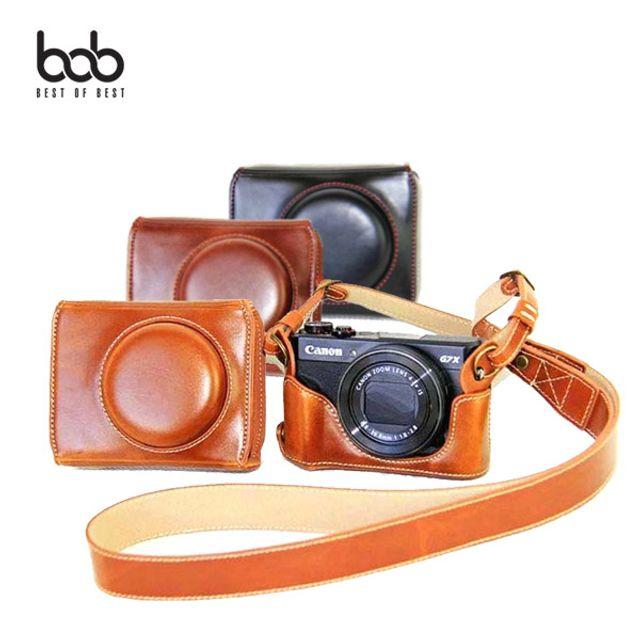 bob 캐논 G7X Mark2 디카 가죽케이스 스트랩 크로스백 442D+0A3#aEBTUI990, 쿠팡1 캐논G7XMark2_블랙