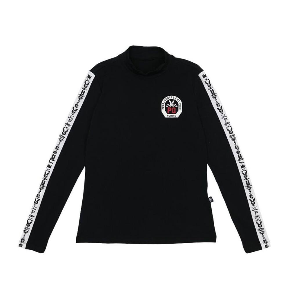 파리게이츠 여성 추동 기모 긴팔 골프 티셔츠, 검정