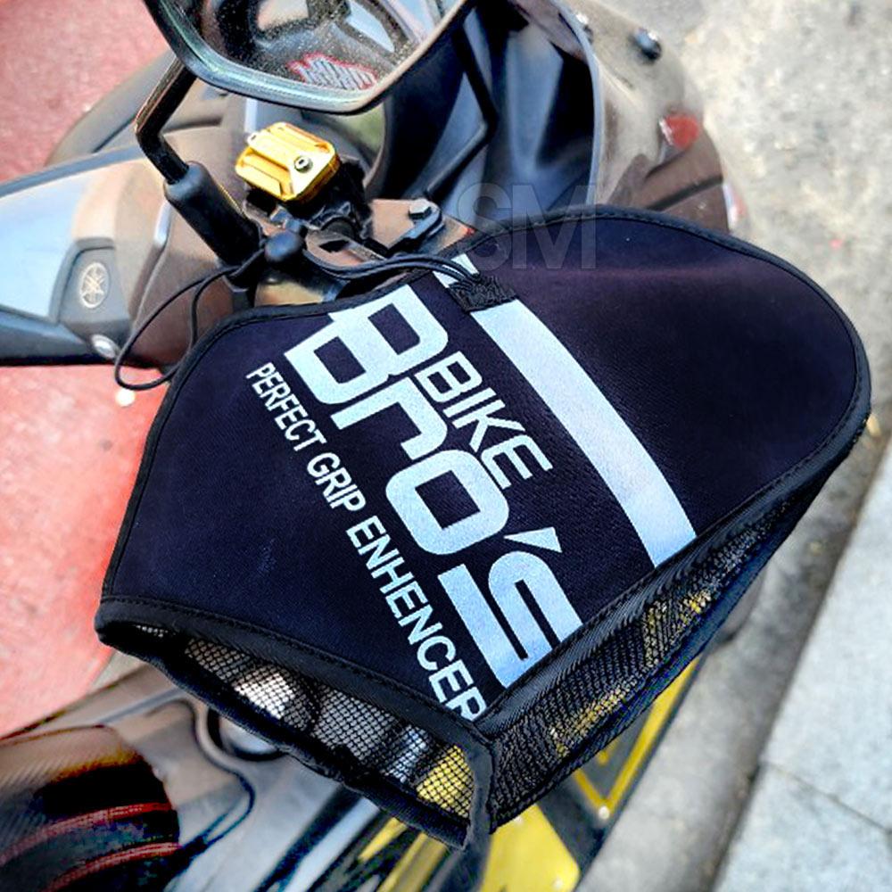 오토바이 여름토시 쿨토시 바이크브로스 21년신형 배달대행 메쉬 통풍 자외선차단 스쿠터 여름 장갑, 블랙