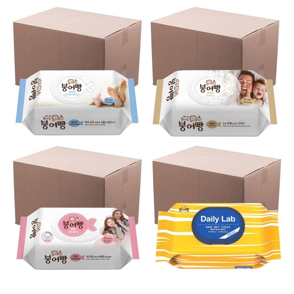 붕어빵 아기 물티슈 /올인원/패밀리/비데/데일리랩, 04.붕어빵 데일리랩 80매X10개(1box)