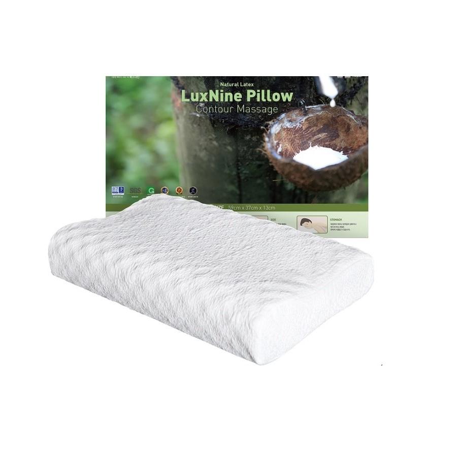 Luxnine Natural Latex Contour Massage Pillow천연 라텍스 베개, 화이트