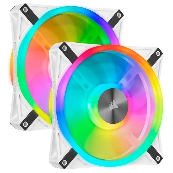 커세어 iCUE QL140 RGB 140mm쿨링팬 케이스 튜닝 쿨러 화이트 2Pack, 단일상품