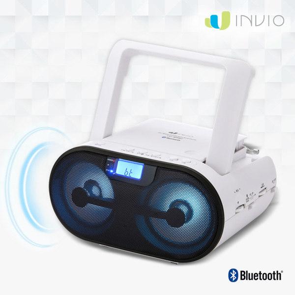 [인비오] CD-800BT 블루투스 CD플레이어 LED 이퀄라이저, 상세 설명 참조