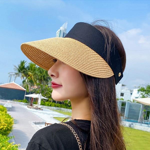 여름 여성 밀짚썬캡 햇빛가리개 모자 라탄 자외선차단 LKC301 (POP 5416331569)
