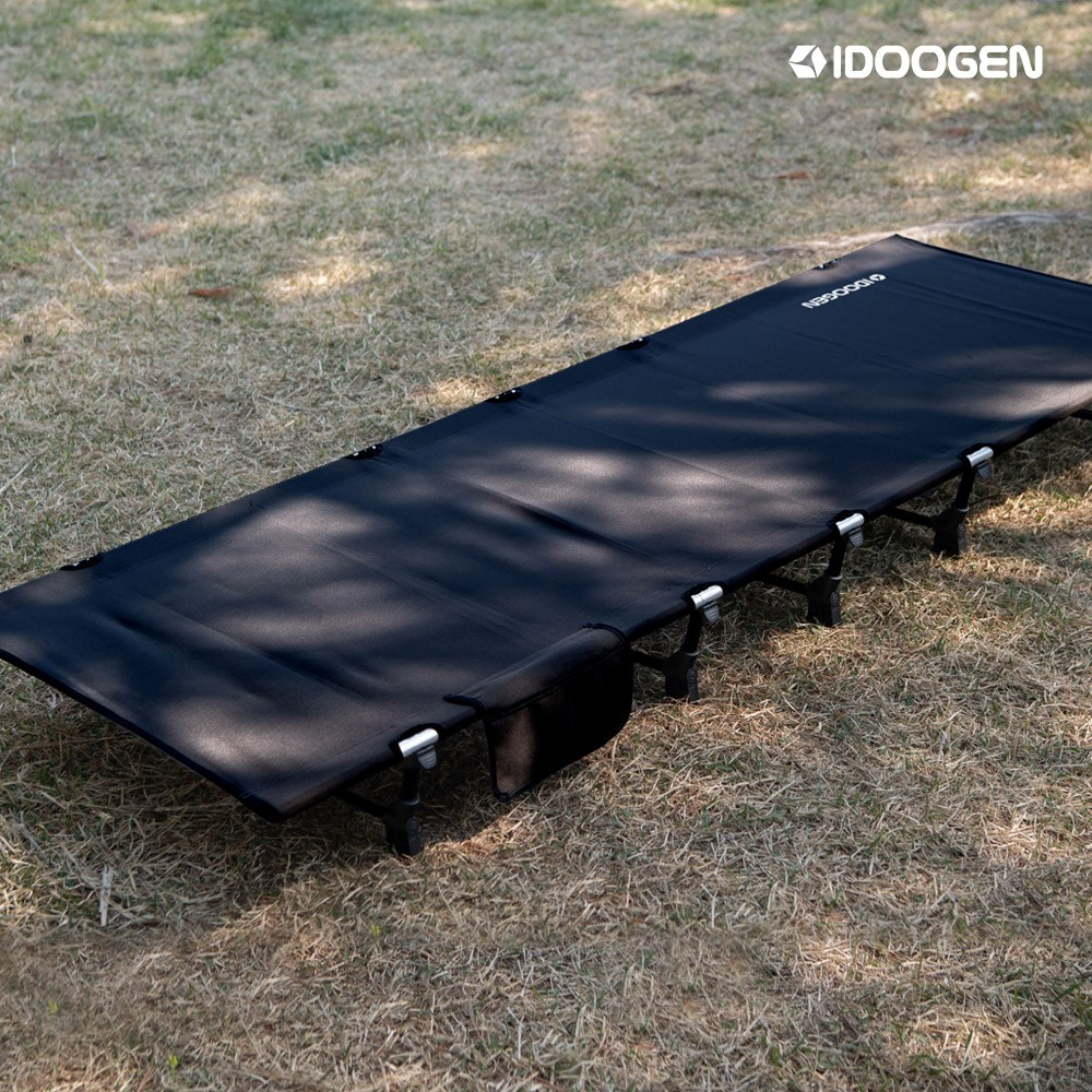 패스트캠프 아이두젠 접이식 초경량 야전침대 캠핑 경량코트 캠핑침대, 블랙