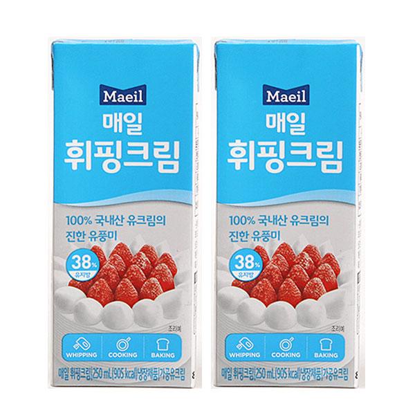 매일유업 휘핑크림 250ml x 1팩 무료배송