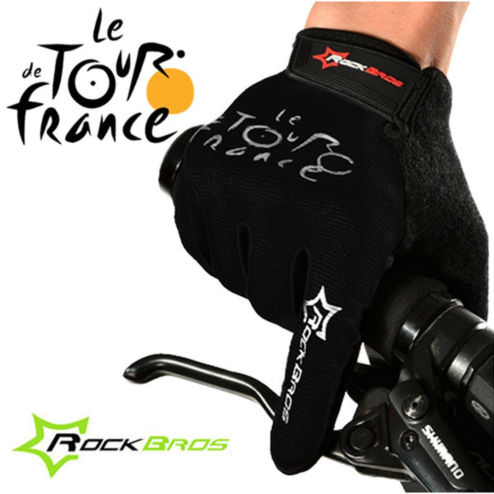 투르 드 프랑스 자전거 장갑 블랙