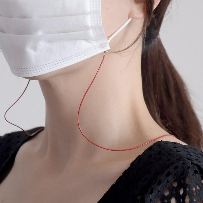 딩동샵 얇은 가죽 마스크 목걸이 스트랩 가벼운 성인용 마스크걸이