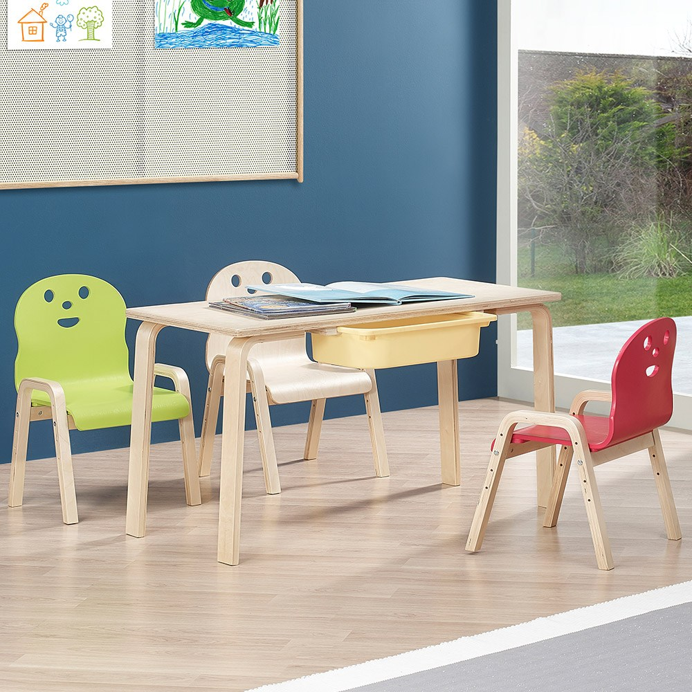 토리 원목 초등 신형의자 직사각 수납책상세트 8-10세, 초등 직사각+바구니 노랑 / 신형의자 연두+빨강