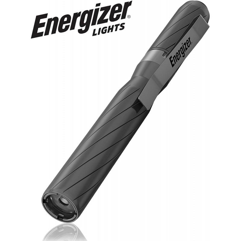에너자이저 LED 펜 라이트 항공기 급 알루미늄 바디 100 루멘 인체 공학적 그립 와이드 빔 펜 손전등 벨트 클립 배터리