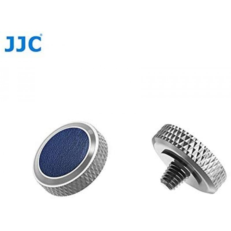 JJC 소프트웨어 릴리즈 셔터 버튼 회색 + 블루 2 개 세트 Fuji Fujifilm 후지 필름 X100V XT4 XT4 X-T30, 단일상품