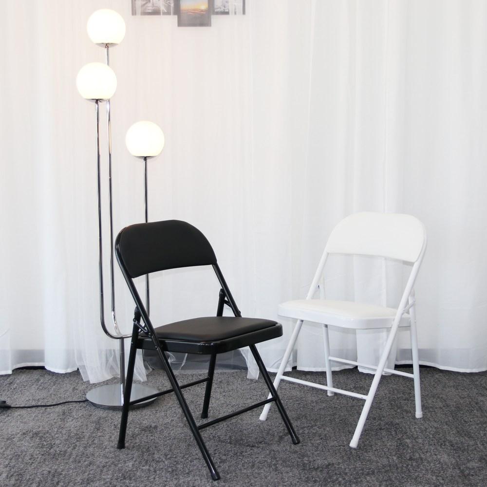RM디자인 로얄 분체 간이 교회 접이식 의자, 블랙분체 접의자